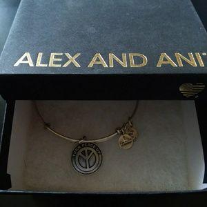 "Alex and Ani Jewelry - Alex and Ani ""Turn Peace Up"" Bracelet"